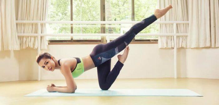 Malaika's Yoga pose