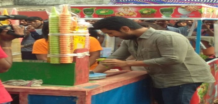 Charan sells IceCream for good cause
